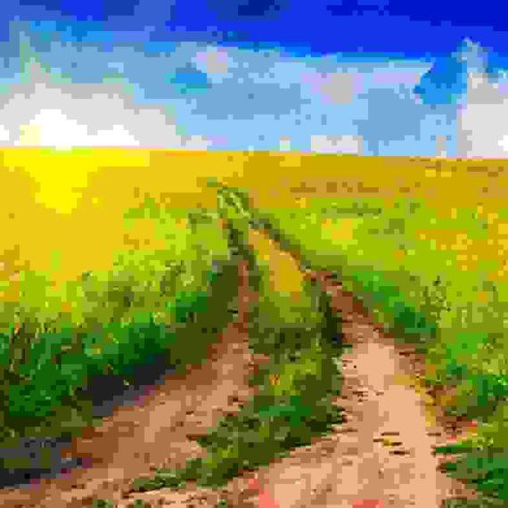 Picturesque landscape painting