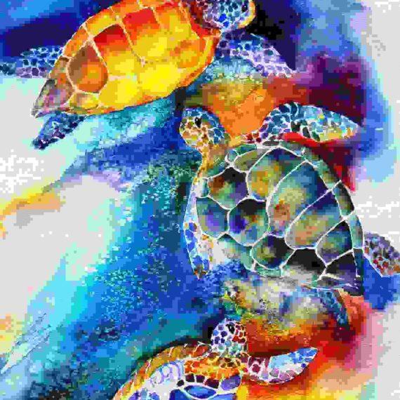 Sea Turtles on the shore
