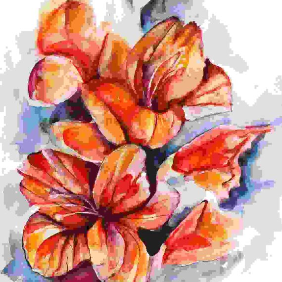 Impressionist's painting of flowers
